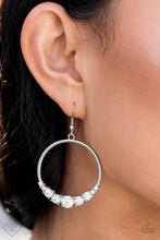 Load image into Gallery viewer, Self-Made Millionaire - White Rhinestone Hoops - The Paparazzi Fox