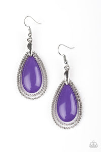 Spring Splendor - Purple Earrings The Paparazzi Fox