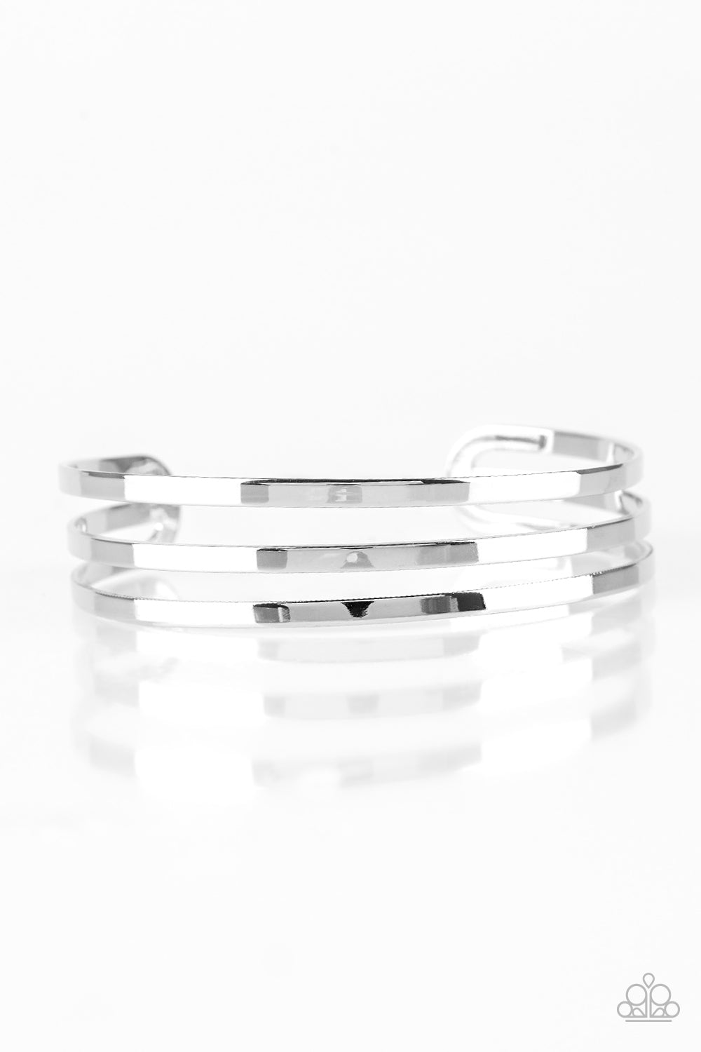 Street Sleek - Silver Cuff Bracelet - The Paparazzi Fox
