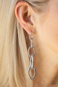 Street Spunk - silver earrings - The Paparazzi Fox