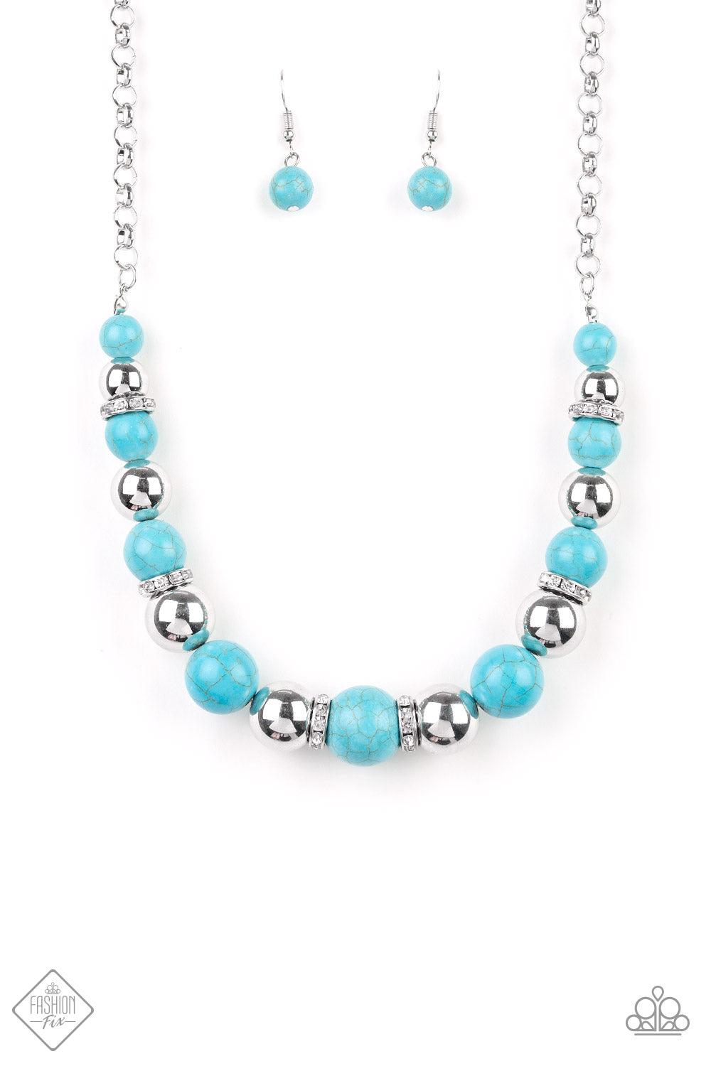 The Ruling Class - Turquoise Necklace - Simply Santa Fe February 2019 - The Paparazzi Fox