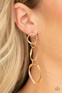 Three Ring Radiance - Gold Earrings - The Paparazzi Fox