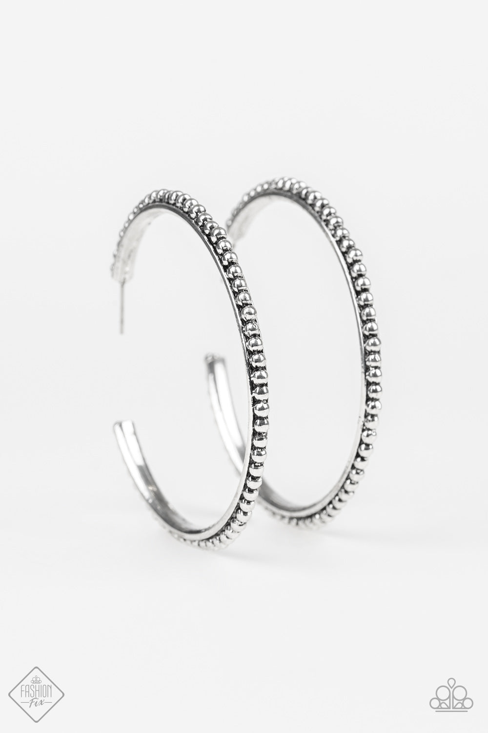 Totally On Trend - Silver Hoop Earrings - The Paparazzi Fox