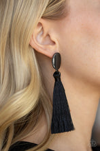Load image into Gallery viewer, Va Va PLUME - Black Tassel Earring - The Paparazzi Fox