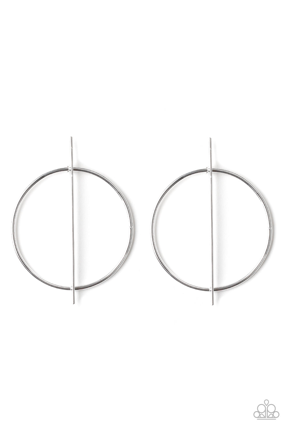 Vogue Visionary - Silver Hoop Earring - The Paparazzi Fox