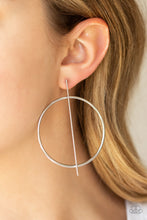 Load image into Gallery viewer, Vogue Visionary - Silver Hoop Earring - The Paparazzi Fox