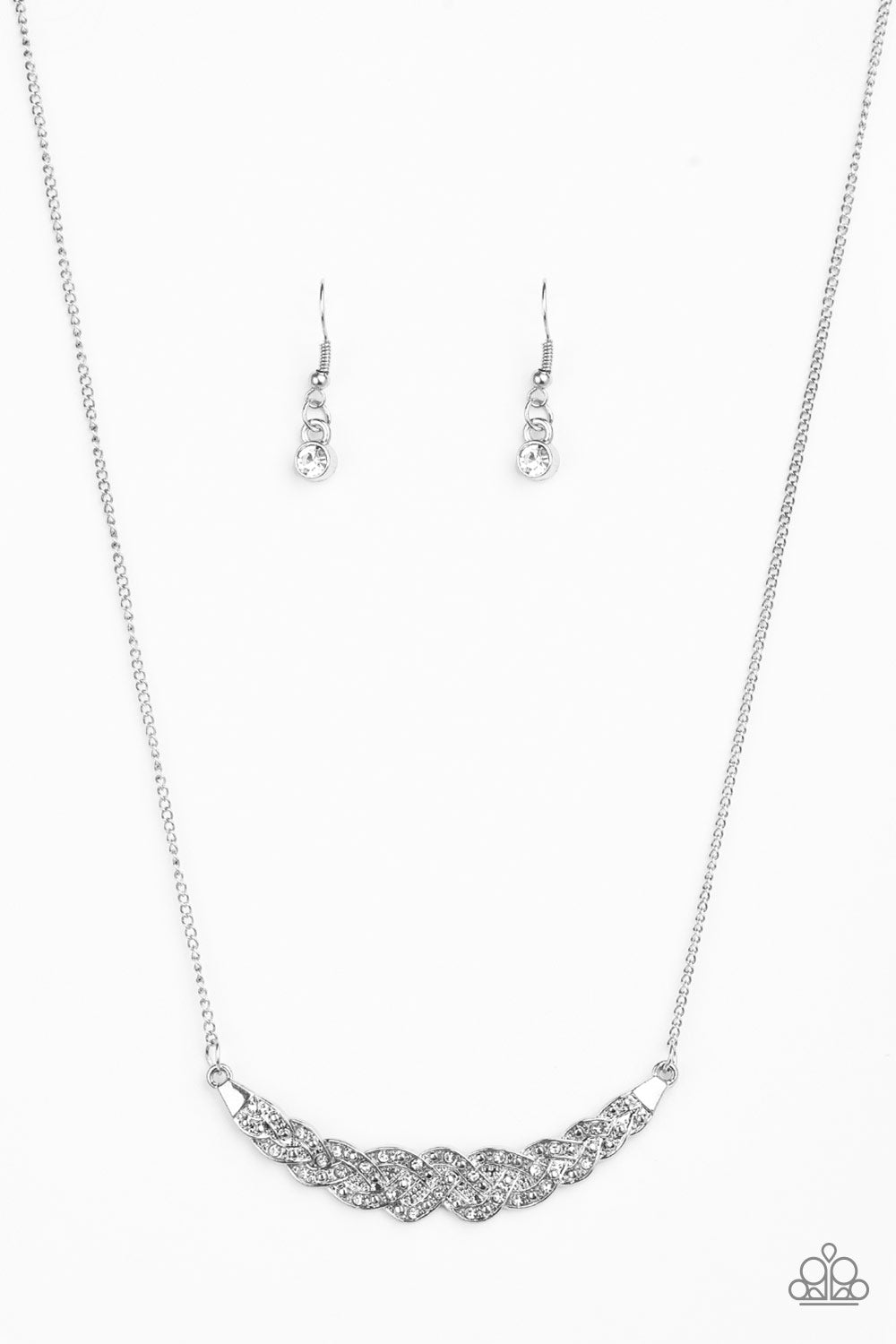 Whatever Floats Your YACHT - White Rhinestone Pendant Necklace - The Paparazzi Fox