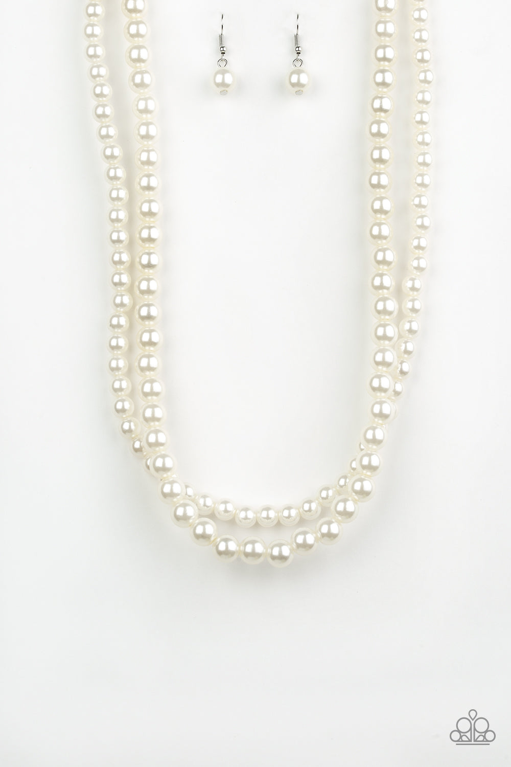 Woman Of The Century - White Pearl Necklace - The Paparazzi Fox