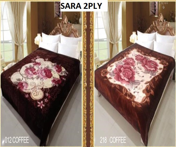 Sara 2Ply #012/218-Coffee - Coffee, Queen