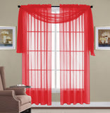 SHEER 3 PC CURTAIN SET