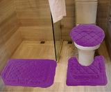 3-PCS BATH SET EMBOSSED MEMORY FOAM SOLID
