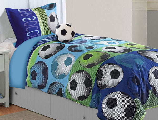 Soccer Bedding Set - Twin Comfort