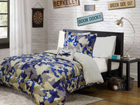 Military Blue Comforter Twin