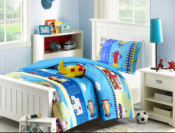 Airplane Bedding Set - Twin Comfort