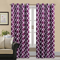 2 Panels Curtain Blackout Printed AHF39