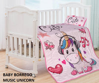 FOUR STAR BABY BORREGO BLANKET WITH PILLOW
