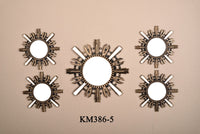 MIRROR WALL DECOR 5-PCS KM386-5