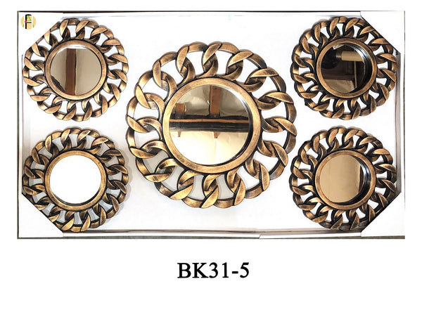 MIRROR WALL DECOR 5-PC BK31-5