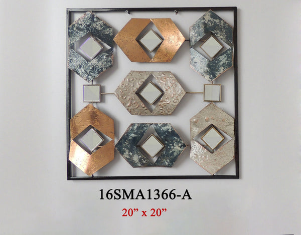 MIRROR METAL WALL DECOR #16SMA1366A