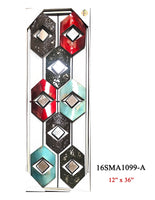 MIRRORED METAL WALL DECOR #16SMA1099-A