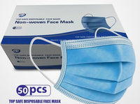 50 PER BOX 3 PLY WOVEN DISPOSABLE MASK