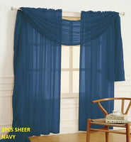3-PC SHEER CURTAINS
