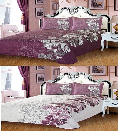 High Quality 3Pcs Reversible Ct-1234 - Purple, Any Size 250X270