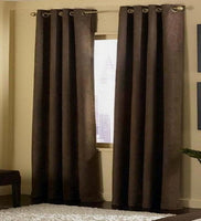 Curtain Suede 2Panels With Grommets