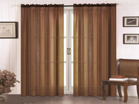 Doli Sheer Curtain - Chocolate