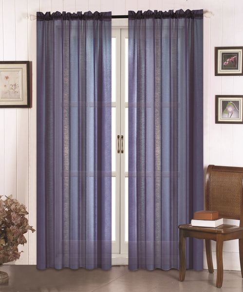 Doli Sheer Curtain - Navy