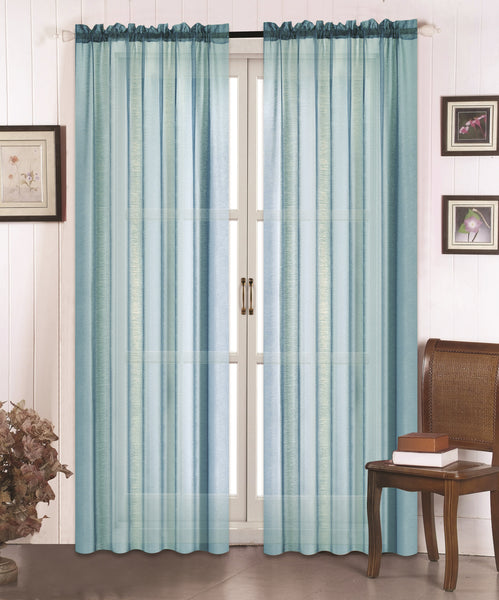 Doli Sheer Curtain - Aqua