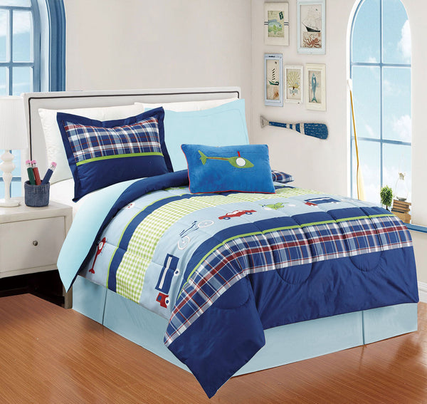 Comforter with Toy 4Pcs Truck