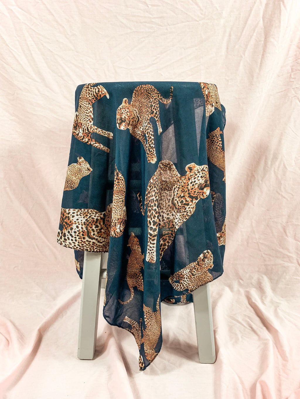 Vintage Navy Big Cat Scarf