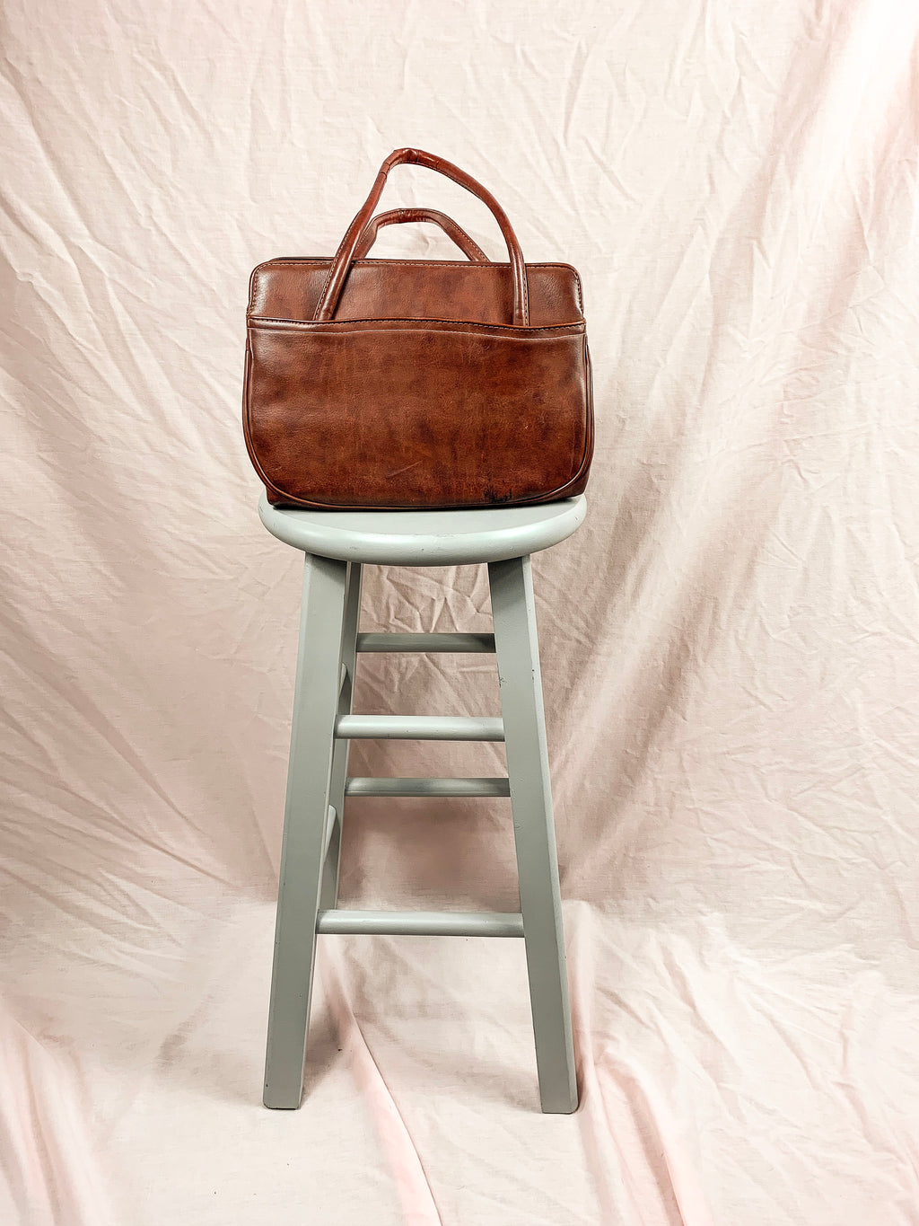 Vintage Chestnut Leather Handbag
