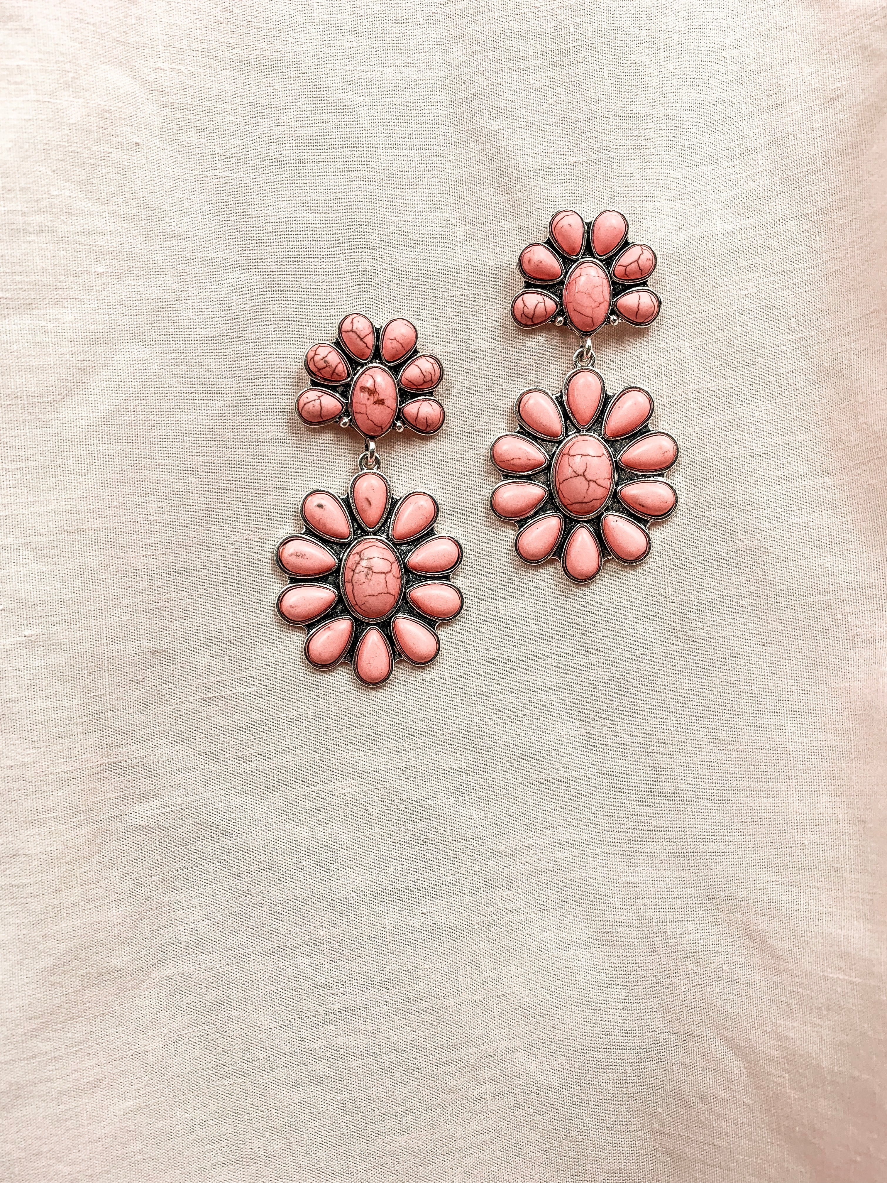 Blush Beaded Sunset Earrings