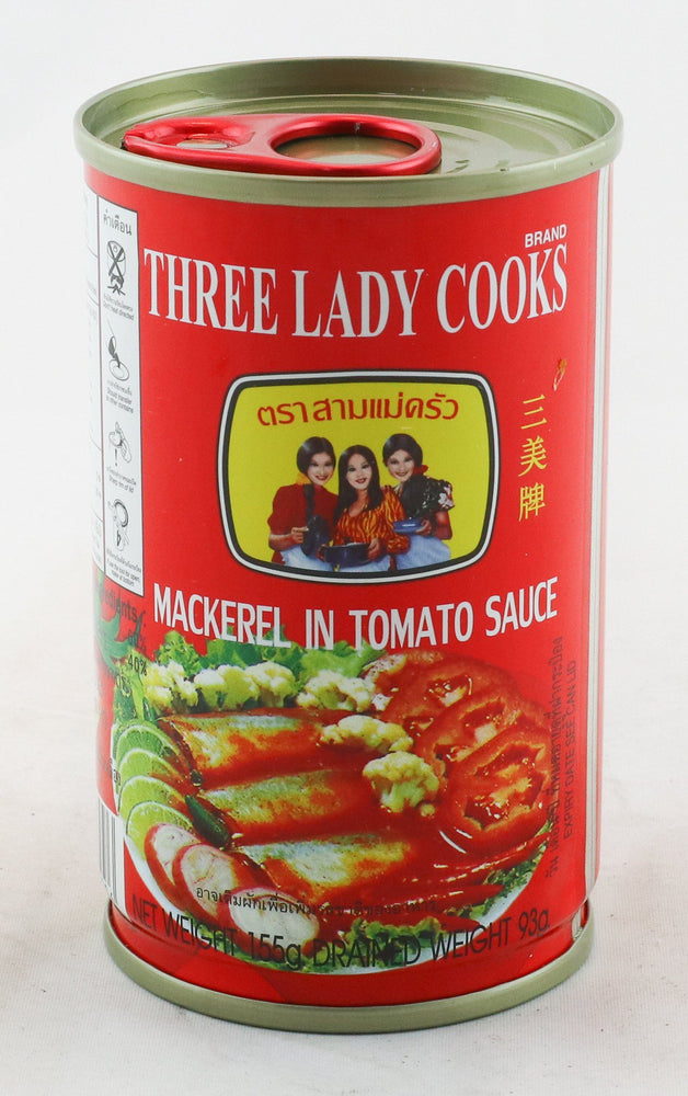 Three Lady Cooks Mackerel in Tomato Sauce 155g - Yin Yam - Asian Grocery