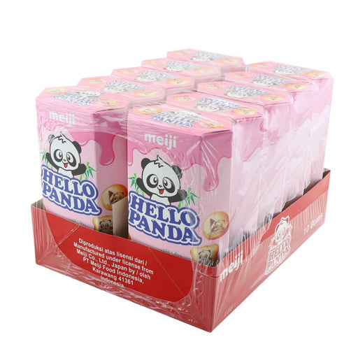 Meiji Hello Panda Strawberry 45g-Pack of 10 - Yin Yam - Asian Grocery