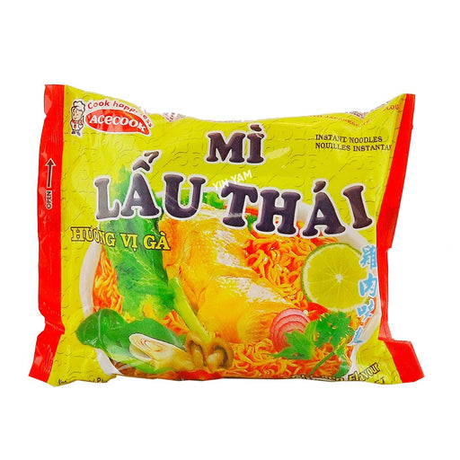 Acecook Mi Lau Thai Chicken Flavour Instant Noodles 83g - Yin Yam - Asian Grocery