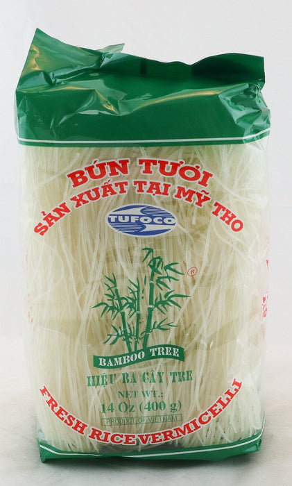 Bamboo Tree BUN TUOI Fresh Rice Vermicelli 400g - Yin Yam - Asian Grocery