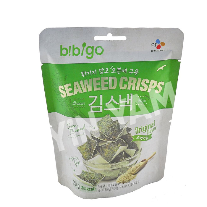 CJ Bibigo SEAWEED CRISPS Original 20g - Yin Yam - Asian Grocery