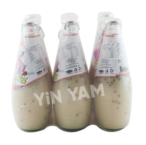 California Fresh Basil Seed Drink ROSE SHARBATH 290ml-Pack of 6 - Yin Yam - Asian Grocery