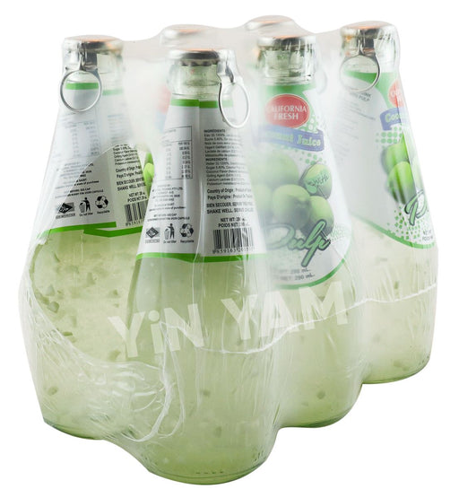 California Fresh Coconut Juice with Pulp 290ml-Pack of 6 - Yin Yam - Asian Grocery
