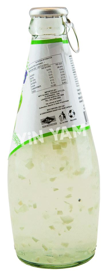 California Fresh Coconut Juice with Pulp 290ml - Yin Yam - Asian Grocery