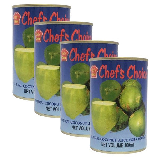 Chef's Choice Coconut Juice For Cooking 400ml-Pack of 4