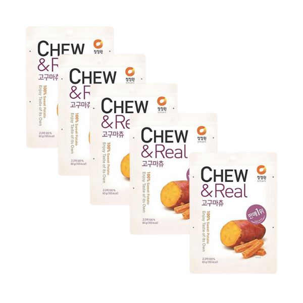 Chungjungwon Chew & Real Dried Sweet Potato Chips 60g-Pack of 5