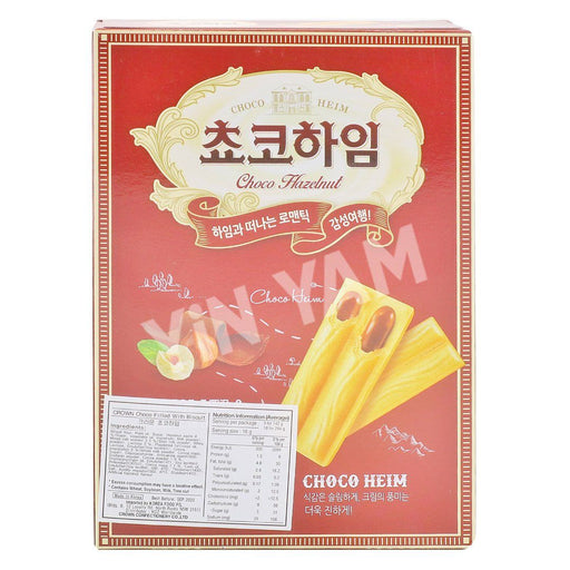 Crown Choco Heim CHOCO HAZELNUT Cream Wafers 142g - Yin Yam - Asian Grocery