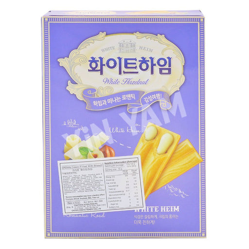Crown White Heim WHITE HAZELNUT Cream Wafers 142g - Yin Yam - Asian Grocery