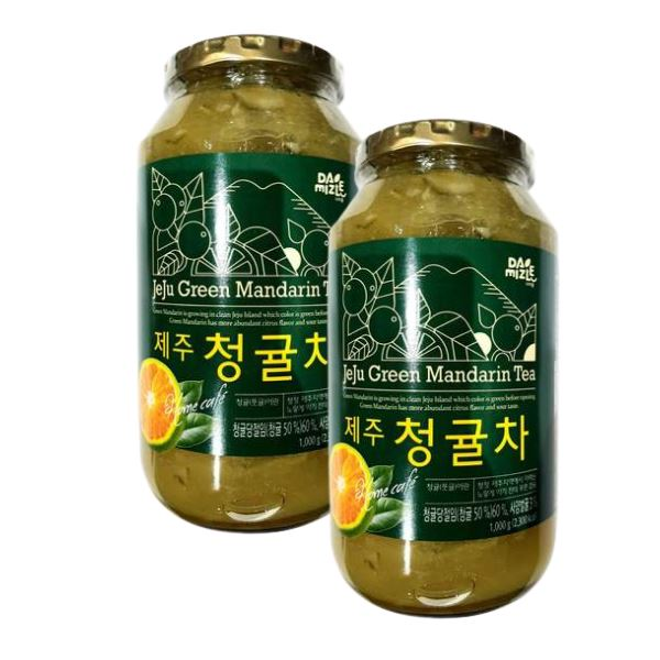 Damizle Dajung Honey Green Mandarin Tea 1kg-Pack of 2