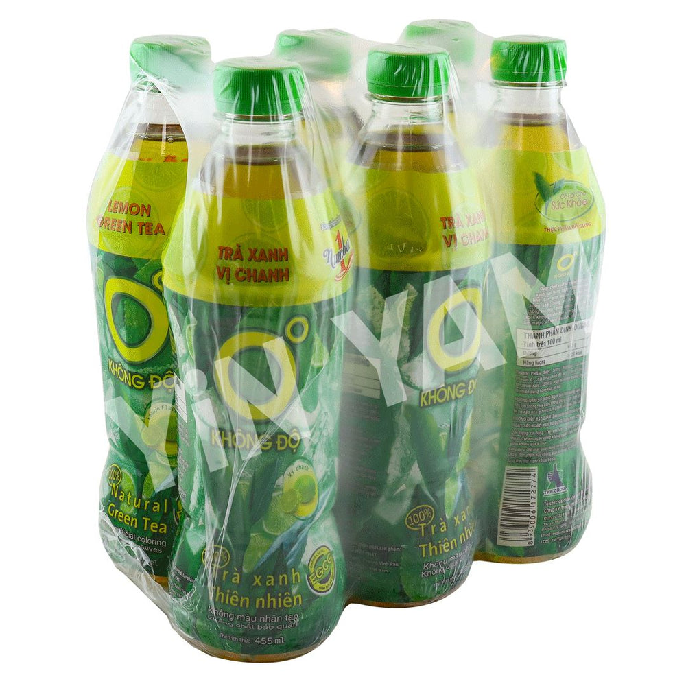 Number 1 Lemon Greentea Drink KHONG DO 455ml-Pack of 6 - Yin Yam - Asian Grocery