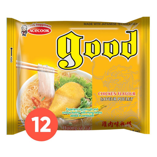 Acecook GOOD Mien Ga Instant Vermicelli Chicken 56g-Pack of 12 - Yin Yam - Asian Grocery